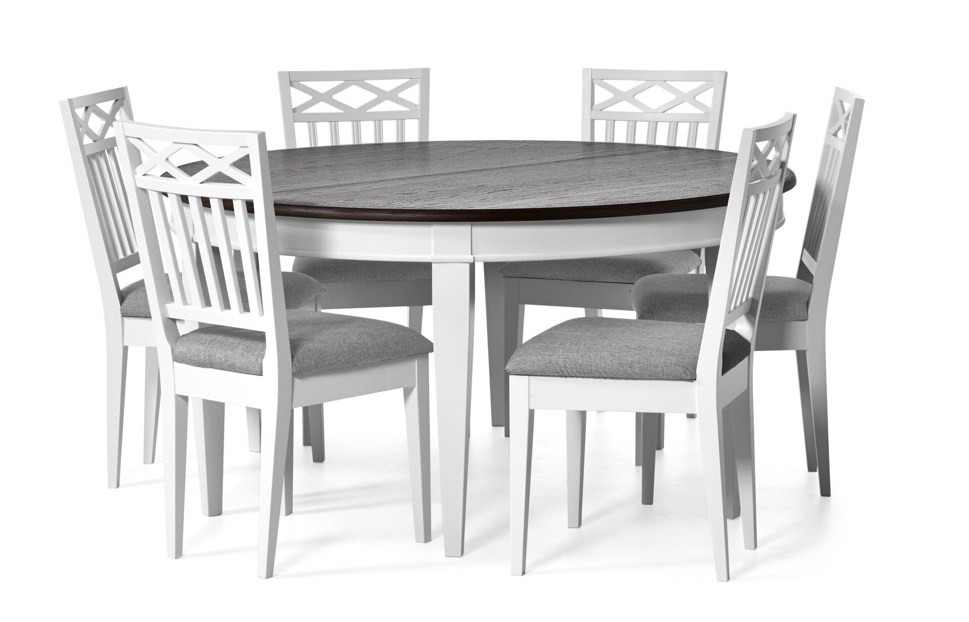 Kanon Wilma Matgrupp med 6 stolar | Matbord | Mio BB-77