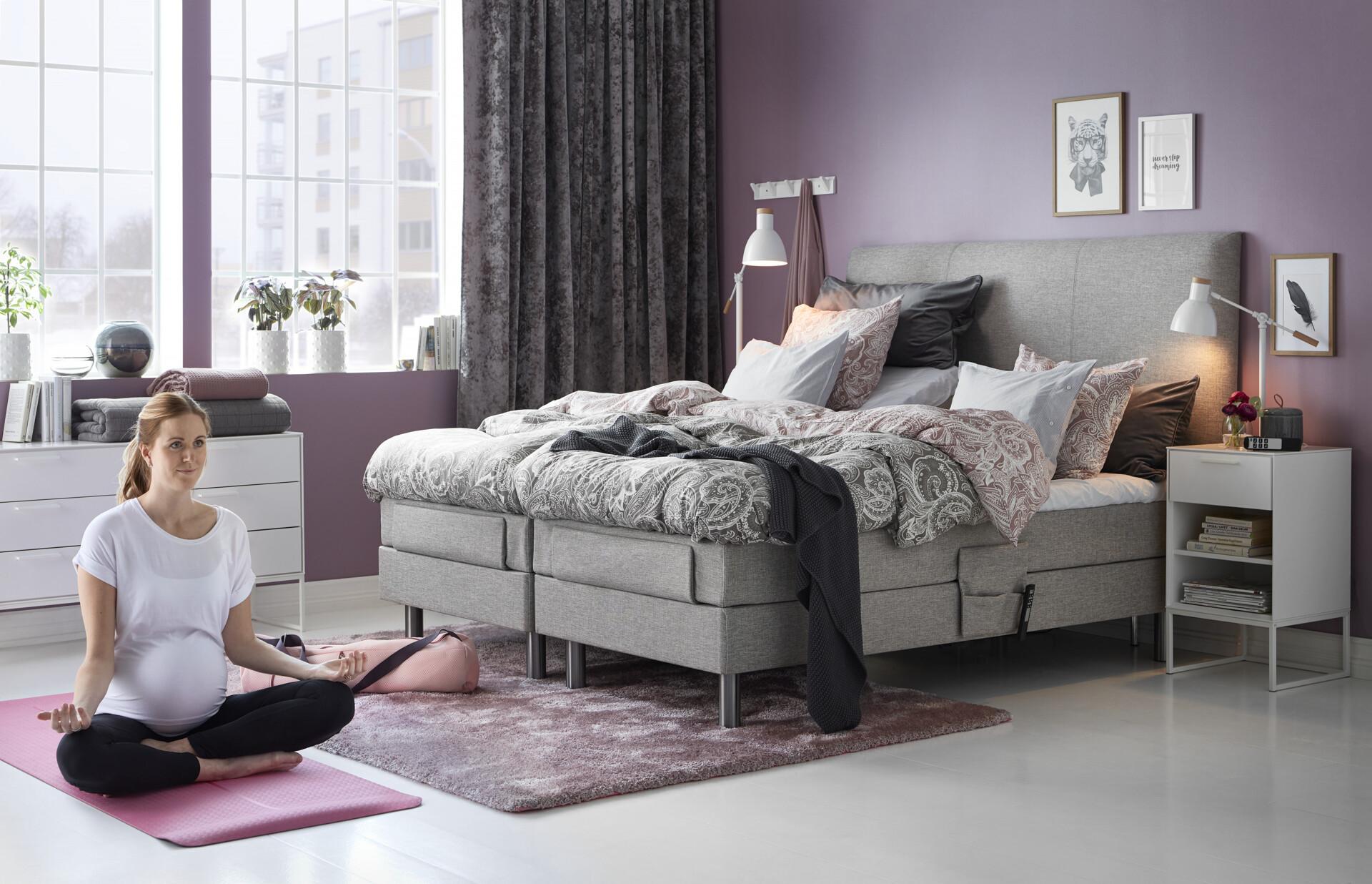 Populära Roma Ställbar säng, enkelsäng med bäddmadrass | Resårmadrass | Mio IJ-09