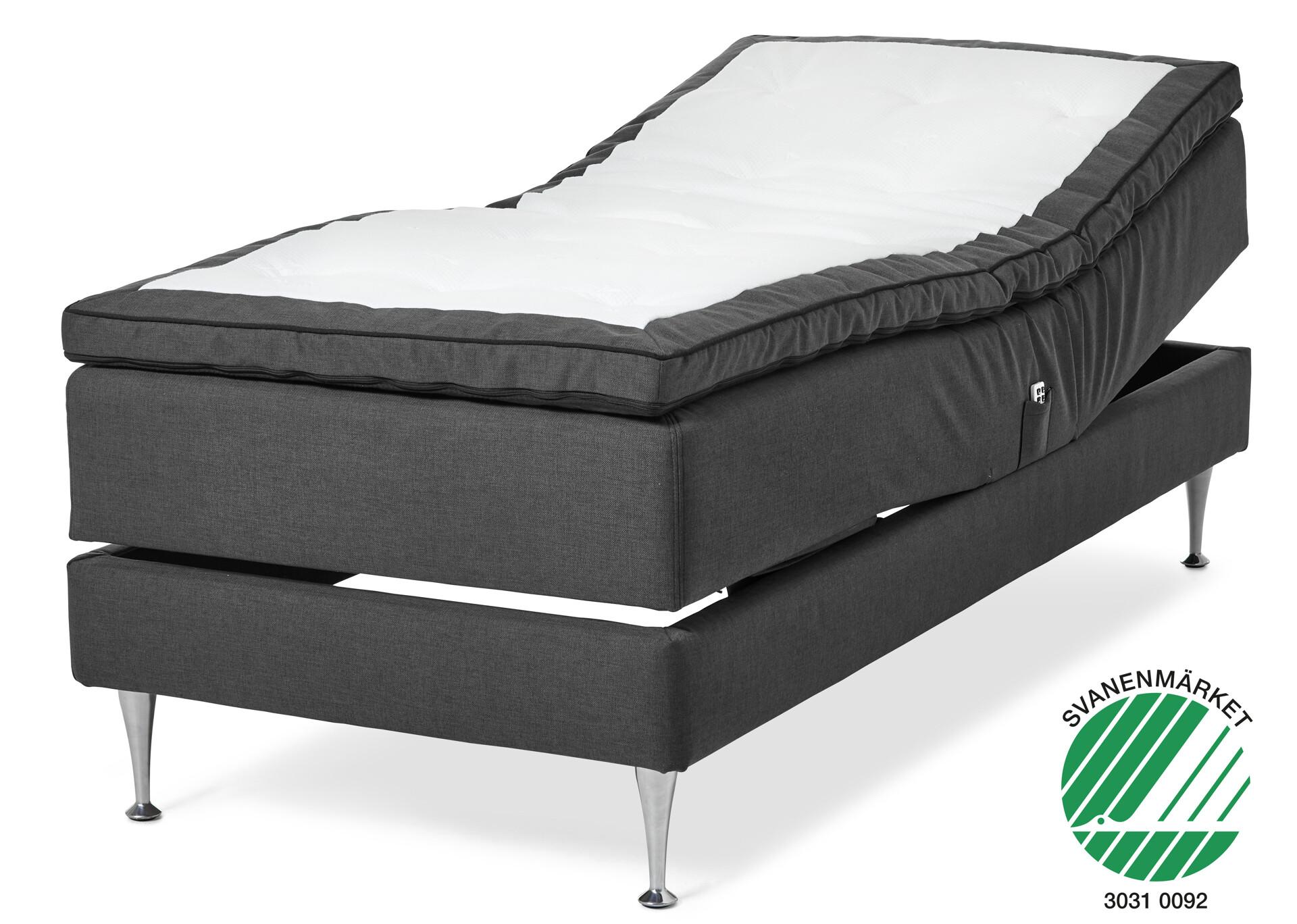 Omtalade Relax Delux Ställbar säng, enkelsäng med bäddmadrass CV-73